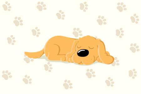 An image of cute sleeping dog wallpaper.