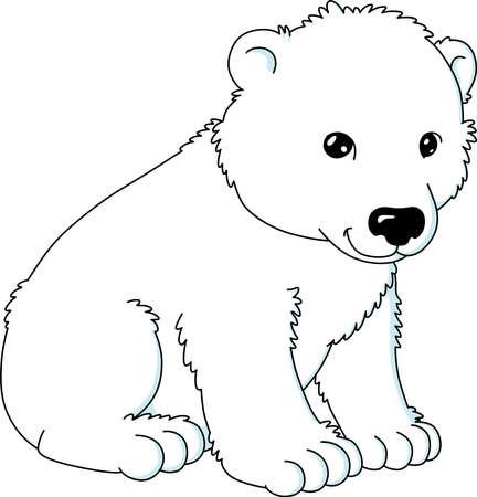 An image of cute polar bear sitting