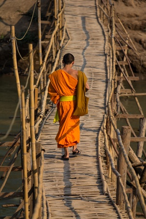 Boeddhistische monnik in Laos