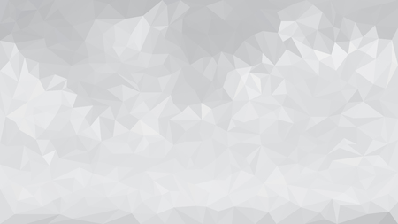 rumpled: Abstract gray low polygon monochrome triangular mosaic background for business template design. Geometric grey gradient poly style rumpled triangle illustration. Illustration