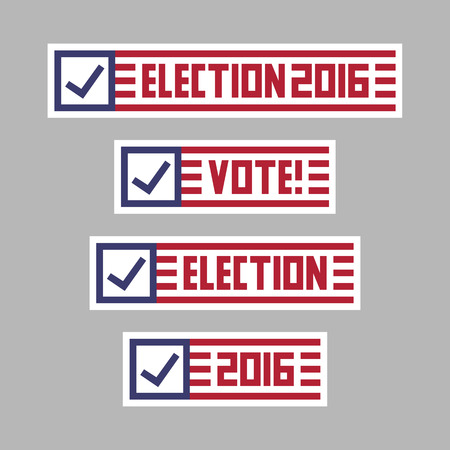 United States of America presidential election banner badges.