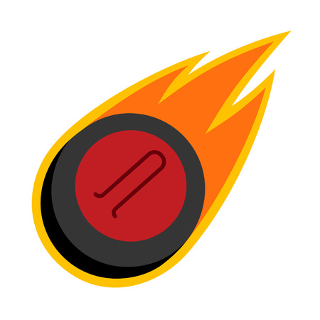 Curling winter sport comet fire tail flying stone