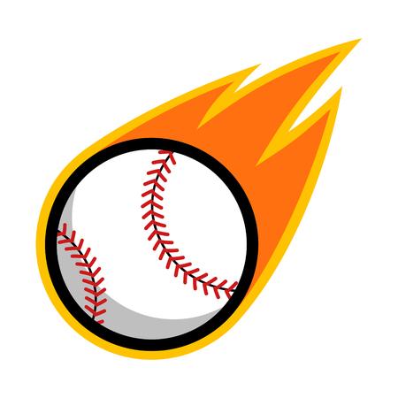 Baseball sport comet fire tail flying logo