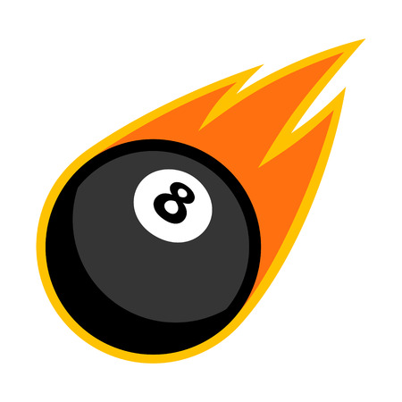 cue ball: Eight ball snooker billiard pool cue sport comet fire tail flying