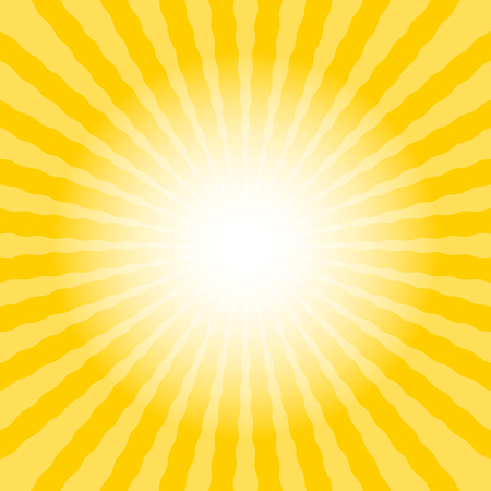 Abstract sun rays wavy yellow and white background template text placeholder