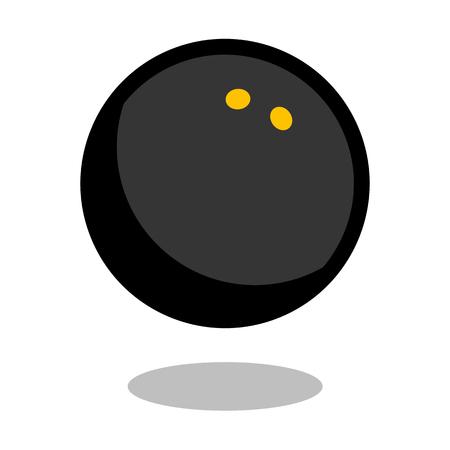 Squash sport ball vector line 3d icon