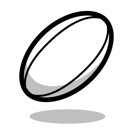 Rugby sport ball  vector line 3d icon