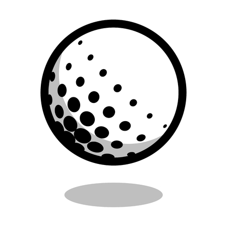 Golf sport ball  vector line 3d icon