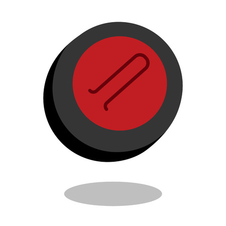 Curling sport stone vector line 3d icon