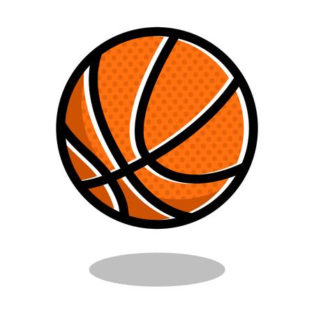 Basketball sport ball  vector line 3d icon 向量圖像