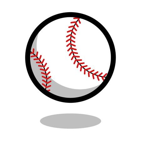 Baseball softball sport ball  vector line 3d icon
