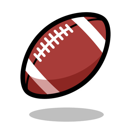 American football rugby sport ball  vector line 3d icon