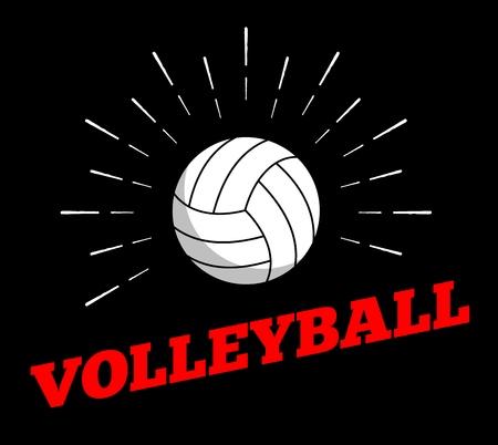 Vector sport ball icon sun burtst print hand drawn vintage line art design 向量圖像