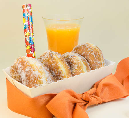dough nut: Pastries and beverage ready for a party