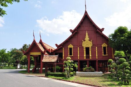 the beautiful house in Thai style