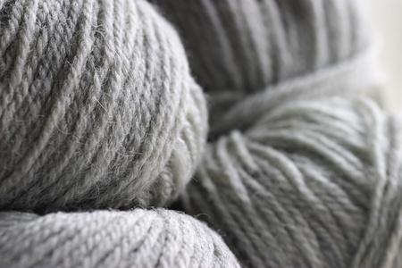 Gray ball of yarn photo