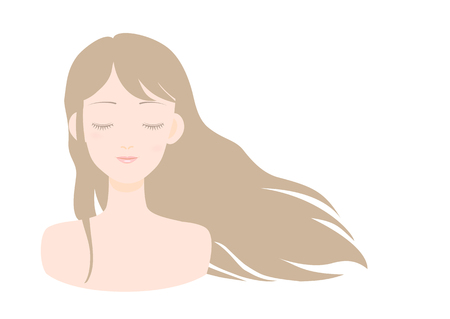 bust up: Young woman with closed eyes