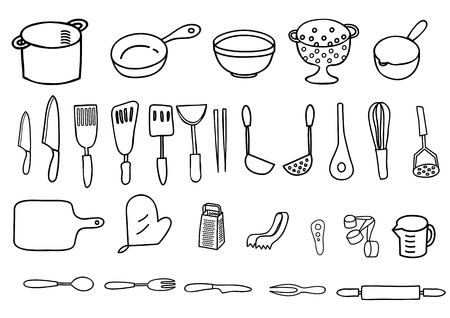 measuring spoon: Cookware of pen style of painting