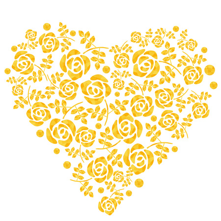 Pattern of heart in the form of roses Illustration
