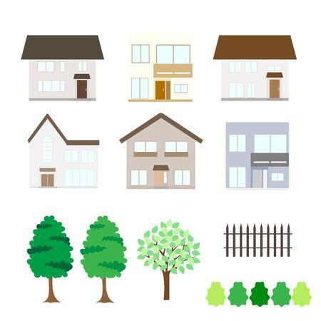 housing: Illustrations of various housing Illustration