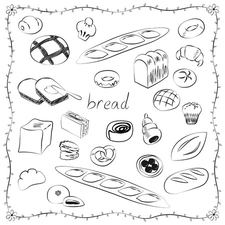campagne: World of bread icon set Illustration