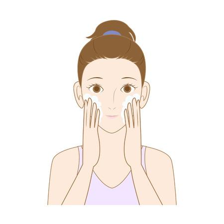 wash face: Face wash