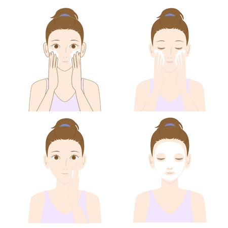 Frauen Hautpflege Standard-Bild - 41652010