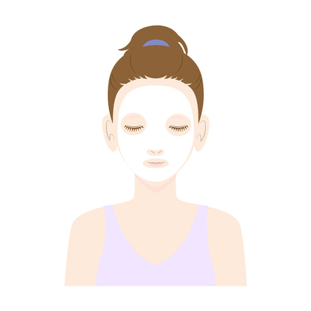 bust up: Women skin care in the face mask