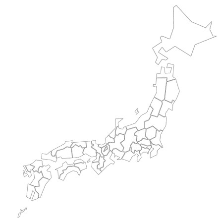 Pure white of Japan Map