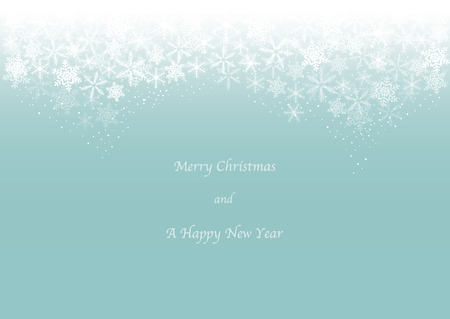 Christmas card image of snow header