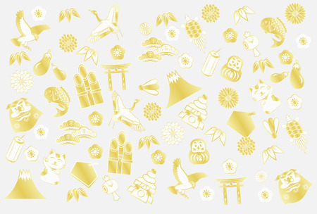 Background image of goods to celebrate the New Year Illustration
