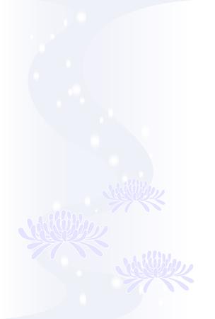 condolence: chrysanthemum background