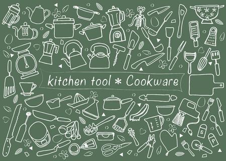 zestaw narzÄ™dzi kuchennych Ilustracje wektorowe