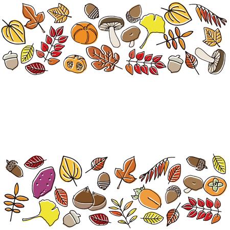 autumn harvest: Autumn harvest and leaves