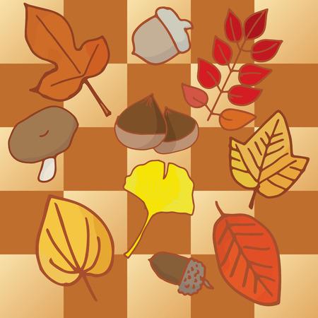 Autumn fruitful and Autumn leaf color