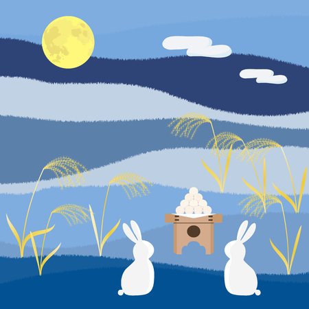 harvest moon: Rabbit to viewing the moon