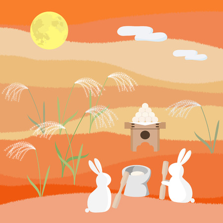 Rabbit to viewing the moon