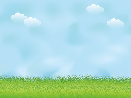 Lawn and blue sky Illustration