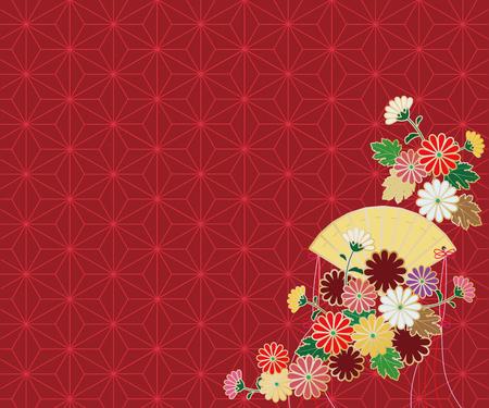 gold textured background: Chrysanthemum pattern backdrop.