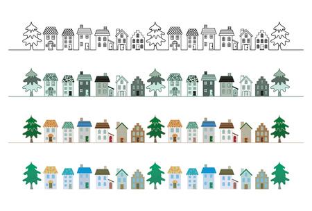 Town. Illustration