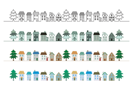 small business: Town. Illustration