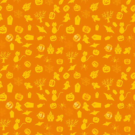 Background pattern studded Halloween items.