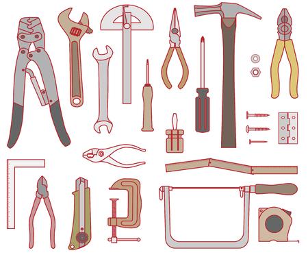 Illustration set of the tool. Vector illustration.  イラスト・ベクター素材