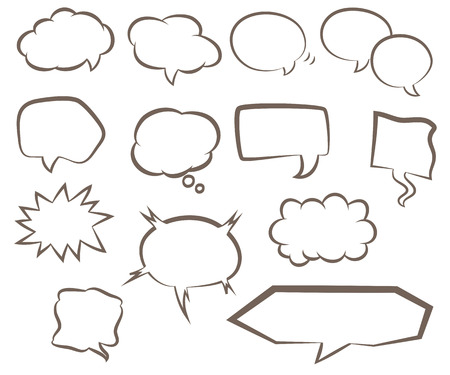 Set Of Various Types Of Speech Bubbles Royalty Free Cliparts
