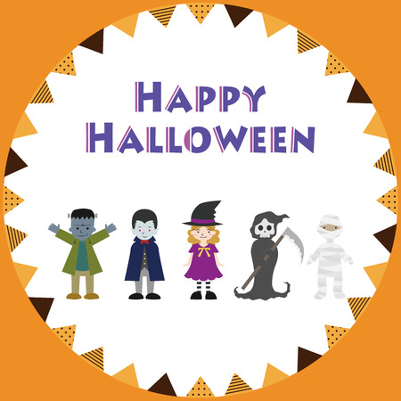 Illustration of Halloween image Standard-Bild - 114886076