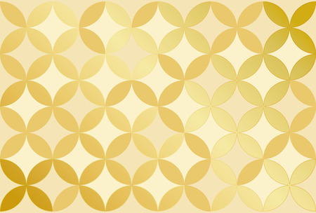 Background of traditional pattern · shippo-tsunagi Illustration: Gold version.