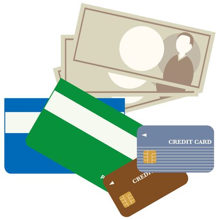 money and credit card and passbook
