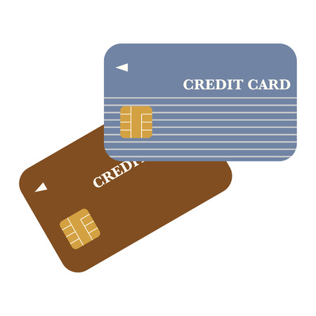 Illustration of two credit cards.