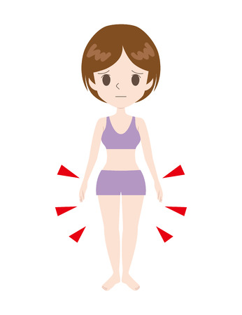 woman with a complex lower body in complex.  イラスト・ベクター素材