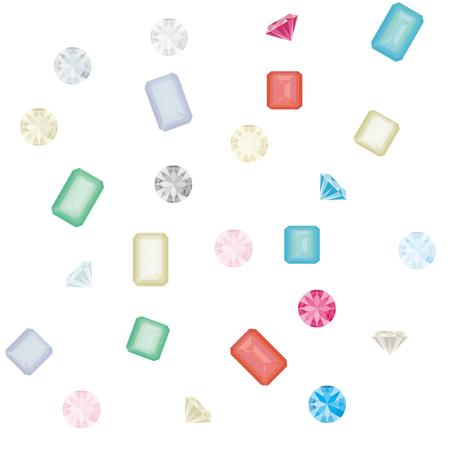 Illustration of seamless pattern of jewelry. Ilustración de vector